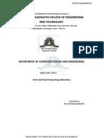 CS6712 Grid and Cloud Computing Laboratory