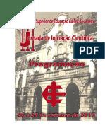 Programação III Jornada de Iniciação Científica Iserj