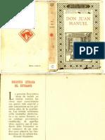 Obras Juan Manuel Por Menendez Pidal