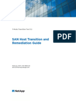 7Mode Transition Tool 32 SAN Host Transition And
