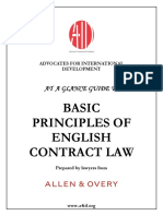 BASIC English Contract Law at a Glance