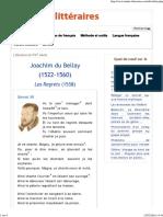 Joachim Du Bellay, Les Regrets