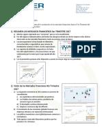 Resumen Mercados Financieros 3er Trimestre 2017 y Vision a Mediano Plazo