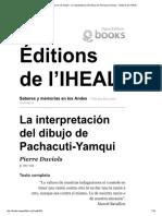 La Interpretación Del Dibujo de Pachacuti-Yamqui