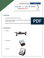 Instrumentación y Ley de OHM