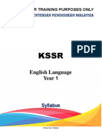 CEFR -KSSR  Syllabus Year 1