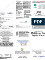 Church Bulletin 8-22