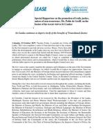Full Statement - Pablo de Greiff, UN Expert on Tranisitional Justice