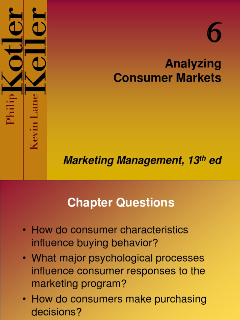analyzing consumer market by philip kotler