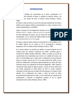 Informe de Manjar Blanco