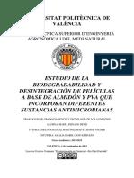 Peinado - Estudio de La Biodegradabiliad y Grado de Desintegración de Films a Base de Almidon y p...