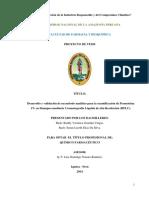Validacion de Tecnica Analitica Permetrina