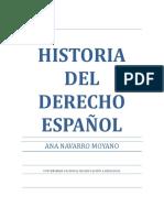 Historia Del Derecho Español - 2017/2018 - Uned