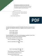Analysis of Blended Fabrics