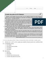 Ficha de trabalho Português 5ºano