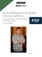 Dicas Rápidas Para Fotografar Retratos Melhores