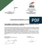 Communiqué d'Unitat catalana et du Comité pour l'autodétermination de la Catalogne Nord