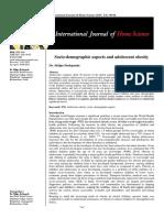 Socio-demographics aspects and adolescent's obesity
