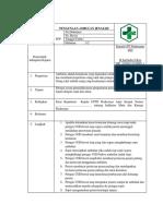 SOP Penggunaan Ambulan Jenazah