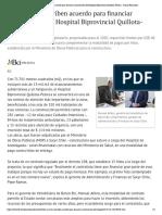 BCI y Sacyr suscriben acuerdo para financiar construcción del Hospital Biprovincial Quillota-Petorca - Diario Financiero