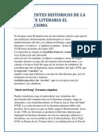Antecedentes Historicos de La Corriente Literaria El Romanticismo