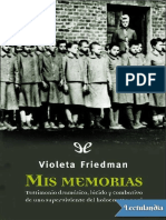 Mis Memorias - Violeta Friedman