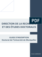 Guide d' inscription en doctorat - Université de Montpellier