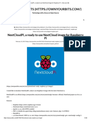 NextCloudPi, A Ready to Use NextCloud Image for Raspberry Pi – Own
