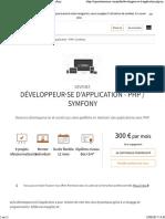 Developpeur Appli Php Symfony