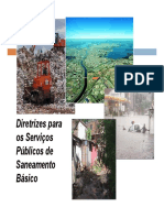 Diretrizes Para Os Serviços Públicos de Saneamento Básico