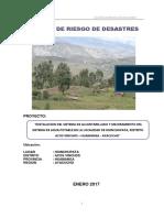Analisis de Rriesgos de Desastres Hinchupata