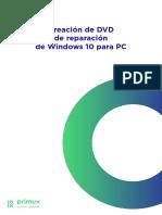Creación de DVD de Reparación de Windows 10 Para PC
