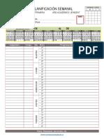 Planificador Semanal Primaria Programaciones 6 Horas