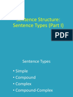 Types of Sentence Structure (Part I)