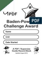 Baden Powel Challenge for iPad A4