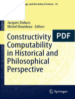 Jacques Dubucs, Michel Bourdeau, Eds. Constructivity and Computability in Historical and Philosophical Perspective