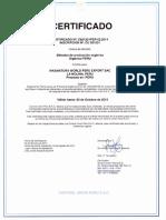 Certificado Control Union Peru Metodos Produccion Organica