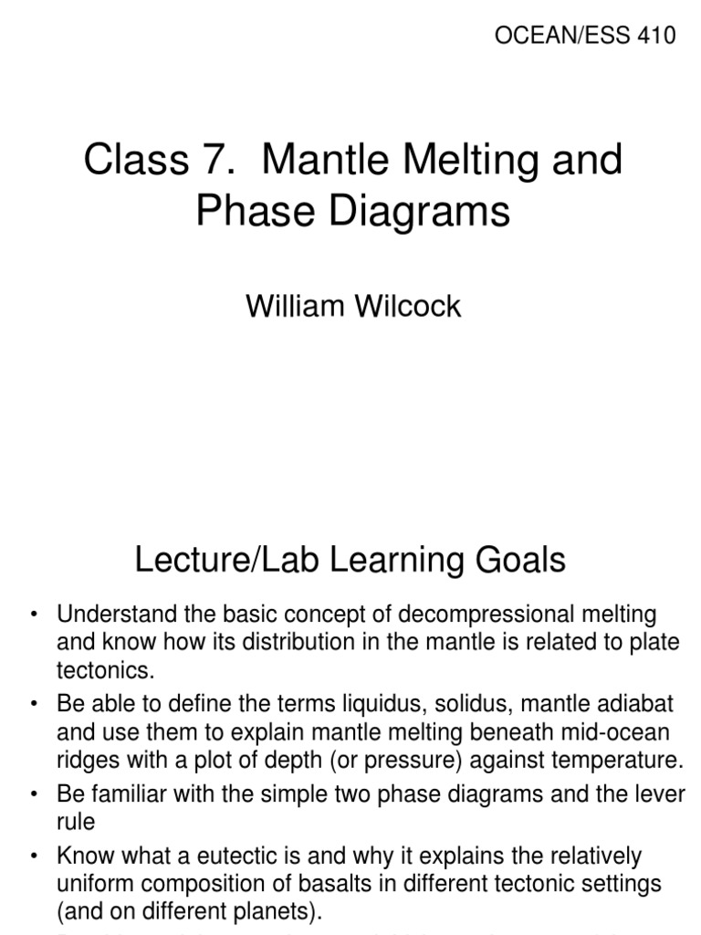 Class07 melting mantle geology plate tectonics pooptronica