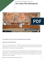Aprueba Cabildo de Colima Plan Municipal de Desarrollo _ Colima Noticias