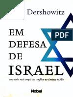Alan Dershowitz - Em Defesa de Israel
