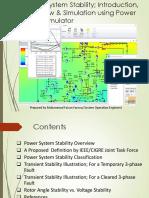 Power System Stabliity using power world simulator