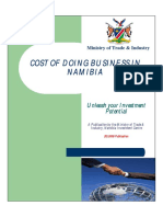 Cost of Doing Business in Namibia