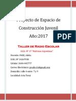 Proyecto Espacio de Construccion Juvenil-2017