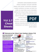 YUI 2.7 Cheat Sheets Concatenated