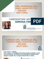 _Presentazione CANDIDATURA  ArchitettoSimonaFerradini Elezioni 2017/21
