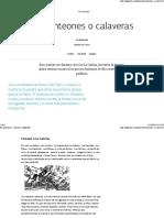 Origen de La Calaveras Literarias - Revista Algarabía