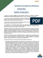 GIDEP 10 Material Del Carro de Urgencias en AP 2017-02-27