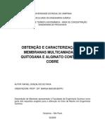 Doutorado Filmes Alginato Uitosana Cobre