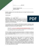 Derecho de Peticion Fotomultas123