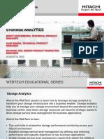 Storage Analytics Webtech Educational Series